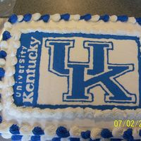 University Of Kentucky Graduation Cake My nephew was graduating high school and was going to UK. This is really simple. Just a bct.