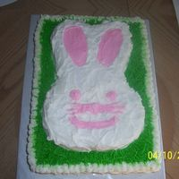 Easter Bunny This is a cake that I did for my daughter's Spring Party at preschool.