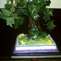Family Tree Birthday This was made for grandma's 90th birthday. The leaves on the tree are actually from an ivy strand. On each leaf, I wrote the names of...