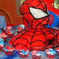 Spiderman  This is the first time I've made a cake like this one. Everyone loved it, especially the kids! It was actually pretty easy to do too...