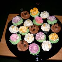 Cake Tasting I did these cupcakes for a tasting. Some were decorated with simple icing and others had Giant Roses on them. I airbrushed the colors on...