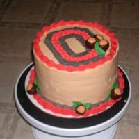 Buckeye Cake Triple layer, Fudge Cake with Peanut Butter Icing. I hit the Buckeye theme a few different ways with this cake: The OSU logo of course,...