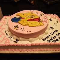 Pooh Baby Shower   Simple BCT Pooh Cake