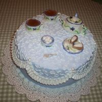 Tea Party First attempt at making a teaset. It is made out of fondant.