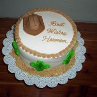 Small Cowboy Hat I was in a hurry and didn't have time to try the full size cowboy hat cake. I just hand molded this one out of fondant - the rest is...