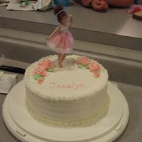 Ballerina Cake With Roses