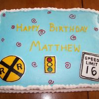 Sixteen Birthday This goes with the car cake. FBCT street signs