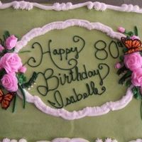 80Th Birthday I FINALLY did the roses on a stick!! I was so excited!! Royal icing butterfliesThanks for looking!