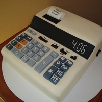 10 Key/calculator Cake this was an old style 10 key done for an accountant's b-day. his b-day was april 6th which is why it says 4.06 in the screen. all done...