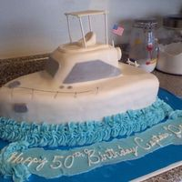 Boat Cake This was for a 50th Bday for a man who loves his boat.. I think it came out pretty good overall.