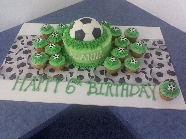 Soccer Cake This was done for a little girl who had her bday party at an indoor sports arena. Wanted a Soccer Theme.