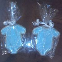 Onsie Cookies Made For Baby Shower NFSC with Royal Icing