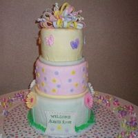 Baby Shower Van and Choc cake with Choc Ganache covered in fondant