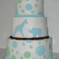 Baby Shower Cake Hostess for the shower knew exactly what she wanted. Although the cake was cute I thought it needed more brown to tie in the one row of...