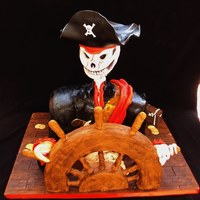 Arghhh Matey Here is a cake I did for Nicks 21st Birthday .(friends son). He loves pirates and is a tatoo artist... so this is what I came up with. Not...