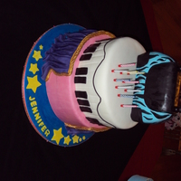 Jen's Birthday Cake This was for my daughter... she had a Diva/Princess/Celebrate her in the Scrooge musical birthday cake. She got several ideas here from CC...