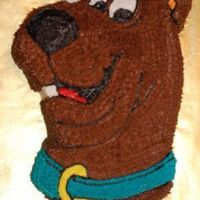 Scooby Dooby Do   Birthday cake for a member of Scooby's gang. - Wilton's OLD Scooby pan