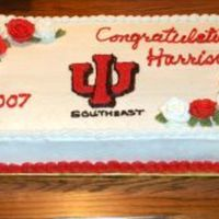 Graduation Sheet   1/2 sheet cake - all BC -