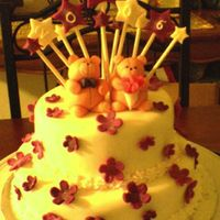 Gabby & Nellie's Prom Cake   My second cake for both of my daugther's prom. Thanks for looking.