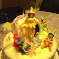 Mar's Birthday Cake  My vision of pixie teapot house from Debbie Brown's for my friend's bithday. This is my first decorated cake ever, still need...