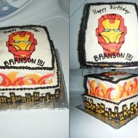 Iron Man inspiration totally came from cake I saw here at cake central only mine is done in buttercream instead of fondant.