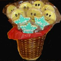 Get Well Cookie Bouquet No fail with Alice's cookie icing. For my 10 year old's friend who had major surgery on his hips last week.