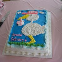 Stork Baby Shower Buttercream
