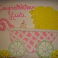 Baby Buggy Baby Shower With Baby Buttercream icing. From Wilton 2006 book - but freehanded patter rather than buy the pan. Lattice was kinda hard and tip 13 stars hurt the...