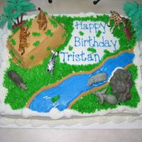 Safari Cake buttercream icing