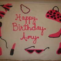 Diva Girl Pink And Black Buttercream icing - hand designed. I had a blast with this cake. I wanted to put a pink and black border but the birthday girl said no. I...