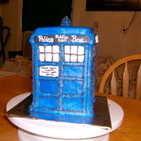 "Doctor Who Tardis Shaped Cake This was for a great friend of mine who is having a ""Doctor Who"" watching party tonight. I had so much fun doing this. As with..."
