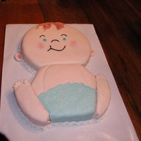 """baby Jack"" He's made of almond sour cream pound cake, buttercream frosing and fondant. I got the idea from a picture on this website...Thanks to..."
