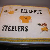 Steelers2.jpg Chocolate and almond sour cream cake for a cheerleader banquet.
