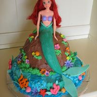 Little Mermaid For my daughters 4th birthday. It had to have chocolate on it somewhere!