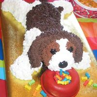 Puppy Cake For my daughter's 7 yr old birthday - she wanted a replica of her favorite stuffed animal.