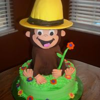 Curious George Fondant coverd George & yellow hat.