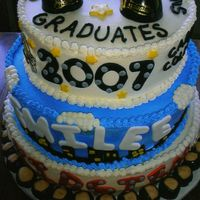 Double Graduation Cake This is a cake I made for two sisters, one graduating from High School, the other from college. The one graduating from college was moving...
