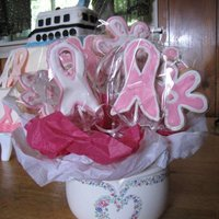 Lung And Breast Cancer Cookies I made these for my friends beneift.