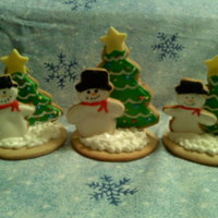 3D Christmas Cookies 3d sugar cookies covered with RF