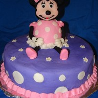 Minnie Mouse Minnie is all cake covered with fondant.This cake was made for a little 2yr old girl that has cancer. i made it for a fundraising party for...