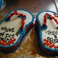 """what A Perfect Pair"" Wedding Shower Cake"