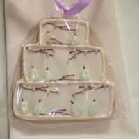 Perfect Pear Wedding Cookies   To match Perfect Pear Wedding Cake