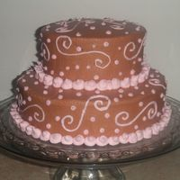 Pink And Brown Birthday Cake