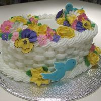 Final - Course 2 Final cake for course 2 - Victorian roses, daisies, primroses, chrysanthemums, daffoldils, violets, apple blossoms & pansies (my fave...
