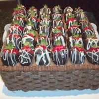 Basket Of Strawberries WASC with whipped chocolate ganache filling, chocolate buttercream frosting and chocolate dipped frosting. It was a definite hit with the...