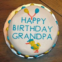 Birthday Cake For New Grandpa This is a Gluten-Free Birthday cake for my father-in-law. My sister-in-law has a wheat allergy and since she was here for her fathers...
