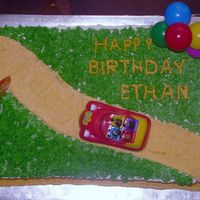Wiggles Birthday Cake I made this cake for my son's second birthday. It is a 2 layer yellow cake with BC frosting. The car, Sign and Balloons came with a...