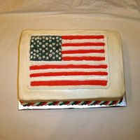 American Flag 2 This is a cake modeled slightly after the Old Glory cake in the Wilton 2006 Yearbook. It is three layers 1 Red 1 Blue and 1 White The flag...