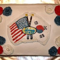 Shower Holt Korea Usa This cake was done for my adopted son's baby shower. It is a BCT modeled after a pin the adoption agency gave us. It includes the...