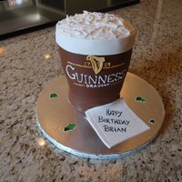 Pint Of Guinness Guinness! WASC with cookie dough filling. I was pretty happy with how it turned out....even with my shaky handwriting :) TFL!